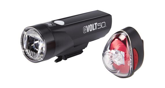 CatEye GVOLT50/Rapid1G Beleuchtungsset EL550GRC/LD611G schwarz